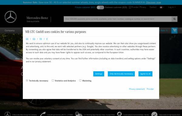 Vorschau von www.mbgtc.de, MB GTC GmbH