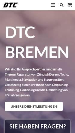 Vorschau der mobilen Webseite www.tachobremen.de, Tachobremen Ltd.