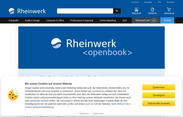 Vorschau von www.galileocomputing.de, Galileo Computing Openbook