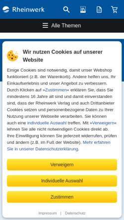 Vorschau der mobilen Webseite www.galileocomputing.de, Galileo Computing Openbook