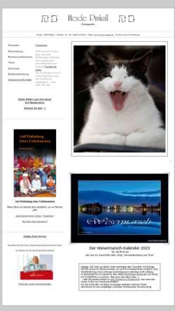 Vorschau der mobilen Webseite www.heide-pinkall.de, Pinkall, Heide