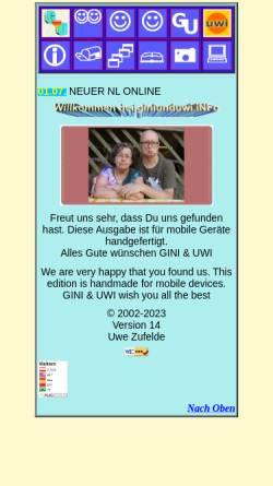 Vorschau der mobilen Webseite giniunduwi.info, Pressl, Resina und Zufelde, Uwe