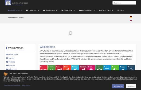 Vorschau von www.applicatio.com, Applicatio Training & Management GmbH