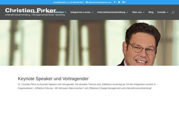 Vorschau von www.christianpirker.com, Keynote Speaker Christian Pirker