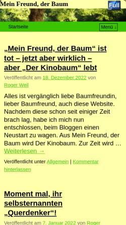 Vorschau der mobilen Webseite www.meinfreundderbaum.de, Weil, Roger