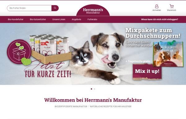 Vorschau von www.herrmanns-manufaktur.com, Herrmanns Hundefutter - Herrmann & Herrmann GbR