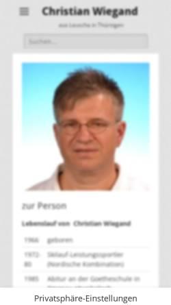 Vorschau der mobilen Webseite www.christianwiegand.de, Wiegand, Christian