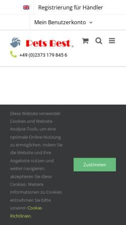 Vorschau der mobilen Webseite www.pets-best.de, Pets Best e.K.