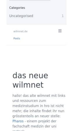 Vorschau der mobilen Webseite www.wilmnet.de, Wilm, Leif-Christian