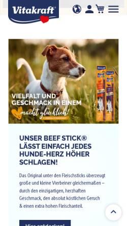 Vorschau der mobilen Webseite www.vitakraft.de, Vitakraft-Werke Wührmann & Sohn GmbH & Co. KG