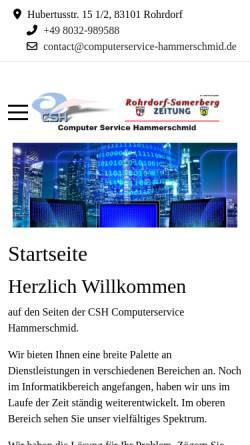 Vorschau der mobilen Webseite www.familie-hammerschmid.de, Hammerschmid, Familie