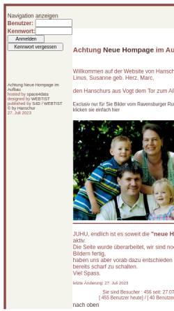 Vorschau der mobilen Webseite www.hanschur.de, Hanschur, Lina-Marie und Marc Steffen