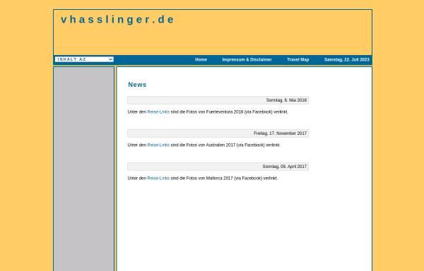 Vorschau von www.vhasslinger.de, Haßlinger, Volker