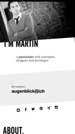 Vorschau der mobilen Webseite www.martinhochreiter.at, Hochreiter, Martin