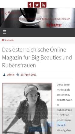 Vorschau der mobilen Webseite www.bigbeauty.at, Big Beauty