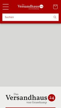 Vorschau der mobilen Webseite dasversandhaus24.de, D. Grasekamp GmbH
