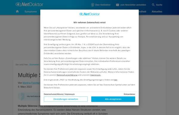 Vorschau von www.netdoktor.de, Hakenwürmer: Parasiten als Schutz vor Multipler Sklerose