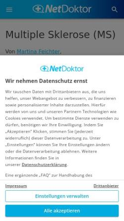 Vorschau der mobilen Webseite www.netdoktor.de, Hakenwürmer: Parasiten als Schutz vor Multipler Sklerose