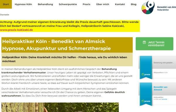 Vorschau von www.koelnerheilpraxis.de, Heilpraxis Benedikt van Almsick