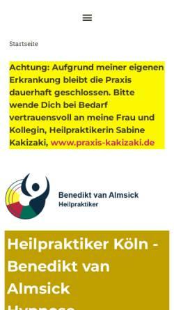 Vorschau der mobilen Webseite www.koelnerheilpraxis.de, Heilpraxis Benedikt van Almsick