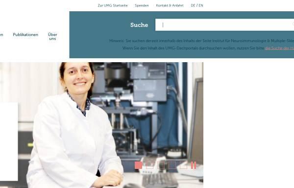 Vorschau von www.neuroimmunologie.uni-goettingen.de, IMSF Göttingen