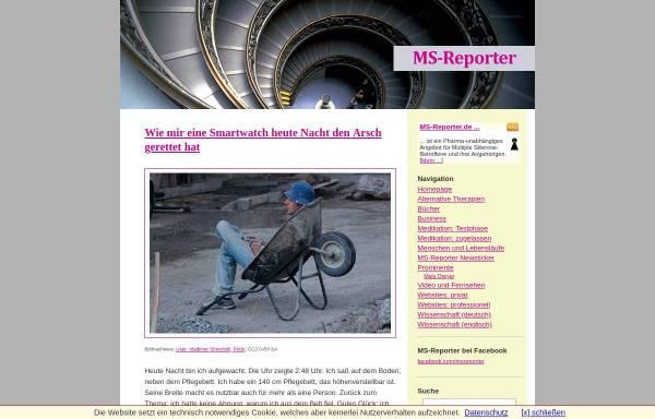 Vorschau von www.ms-reporter.de, MS-Reporter