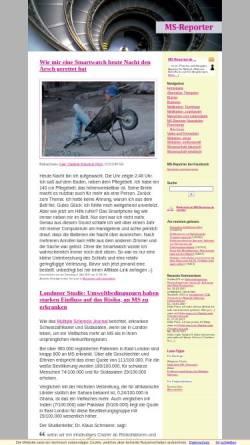 Vorschau der mobilen Webseite www.ms-reporter.de, MS-Reporter