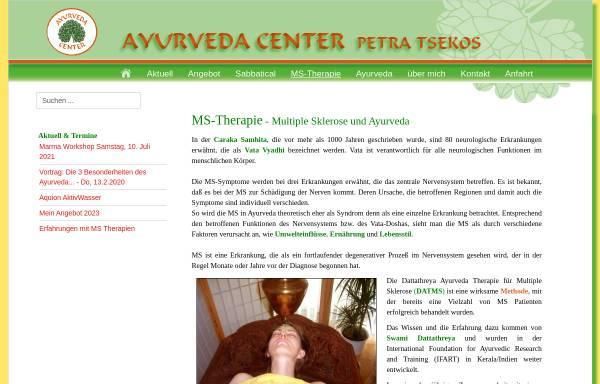Vorschau von www.ayu-center.de, Multiple Sklerose Ayurveda-Behandlung