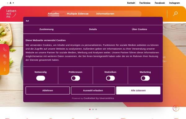 Vorschau von www.leben-mit-ms.de, Serono: Nachrichten zu Multipler Sklerose