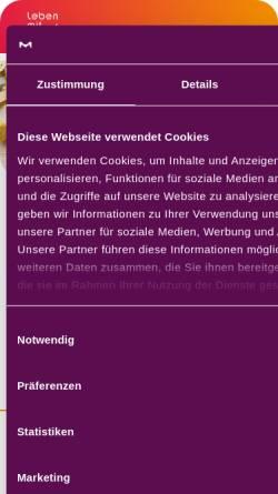 Vorschau der mobilen Webseite www.leben-mit-ms.de, Serono: Nachrichten zu Multipler Sklerose