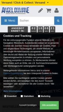 Vorschau der mobilen Webseite www.angel-domaene.de, Angel Domäne