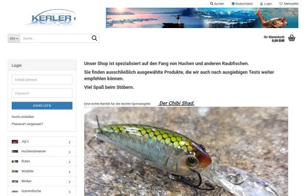 Vorschau von www.angelgeraete-kerler.de, Angelgeräte Kerler