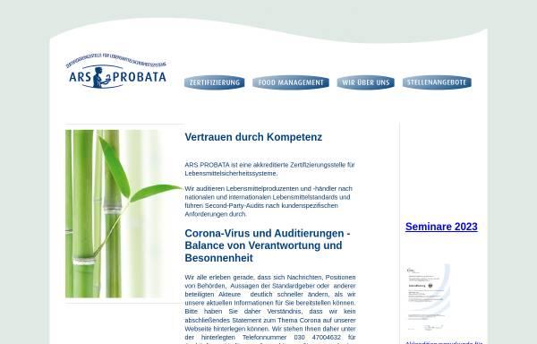 Vorschau von ars-probata.com, Ars-Probata