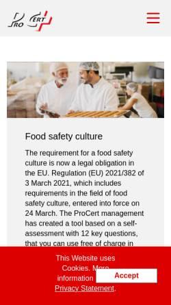 Vorschau der mobilen Webseite www.procert.ch, ProCert