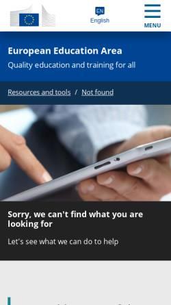 Vorschau der mobilen Webseite ec.europa.eu, Europäische Kommission - Die Sprachen Europas