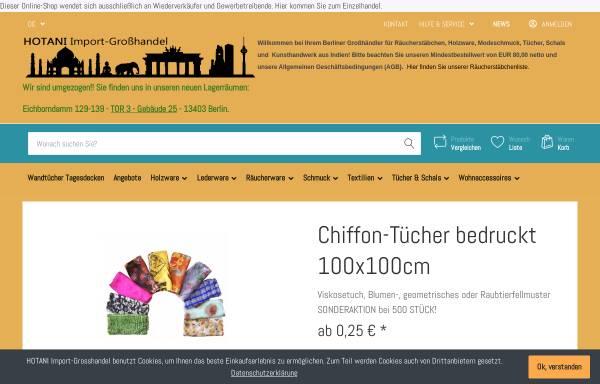Vorschau von www.hotani.de, Hotani Import-Großhandel, Marc Hotani
