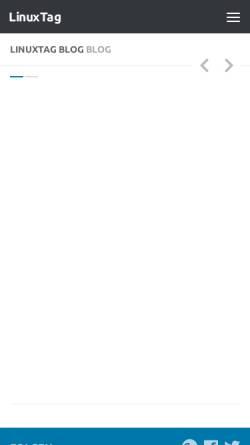 Vorschau der mobilen Webseite www.linuxtag.org, Linux Tag