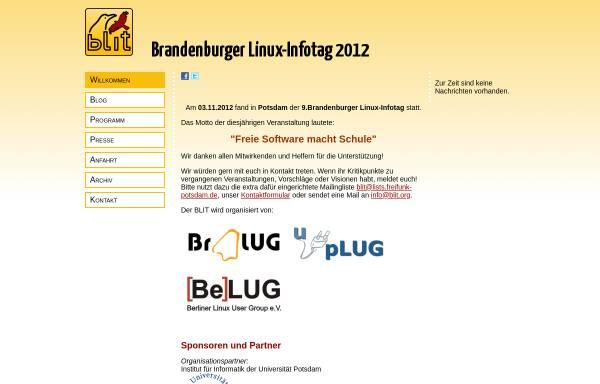 Vorschau von www.blit.org, Brandenburger Linux-Infotag