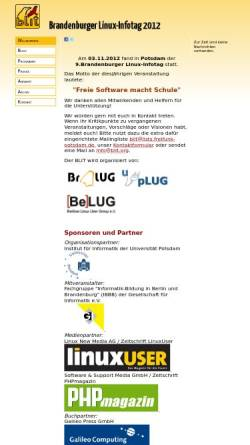Vorschau der mobilen Webseite www.blit.org, Brandenburger Linux-Infotag