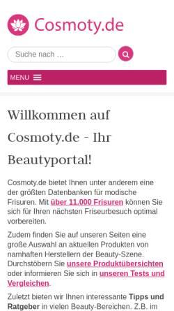 Vorschau der mobilen Webseite www.cosmoty.de, Cosmoty
