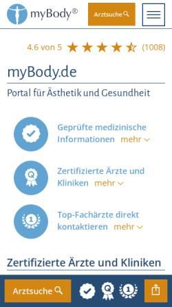 Vorschau der mobilen Webseite www.mybody.de, MyBody.de