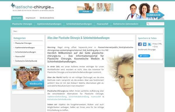 Vorschau von www.plastische-chirurgie.nu, Plastische Chirurgie