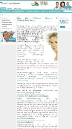 Vorschau der mobilen Webseite www.plastische-chirurgie.nu, Plastische Chirurgie