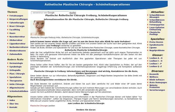 Vorschau von www.plastische-chirurgie-freiburg.net, Plastische und Ästhetische Chirurgie