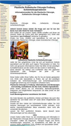 Vorschau der mobilen Webseite www.plastische-chirurgie-freiburg.net, Plastische und Ästhetische Chirurgie
