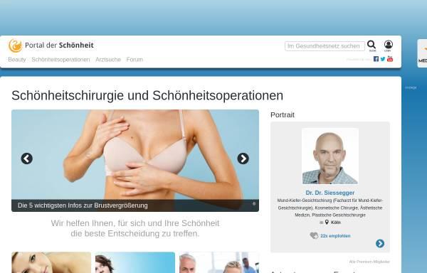 Vorschau von www.portal-der-schoenheit.de, Portal der Schönheit
