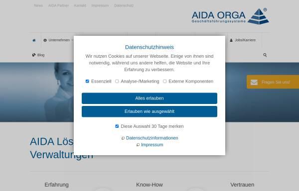 Vorschau von www.aida-orga.de, AIDA Geschäftsführungs-Organisations-Systeme GmbH