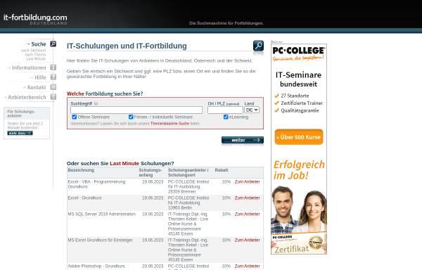Vorschau von www.it-fortbildung.com, evolvem IT Services GmbH