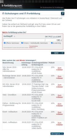 Vorschau der mobilen Webseite www.it-fortbildung.com, evolvem IT Services GmbH