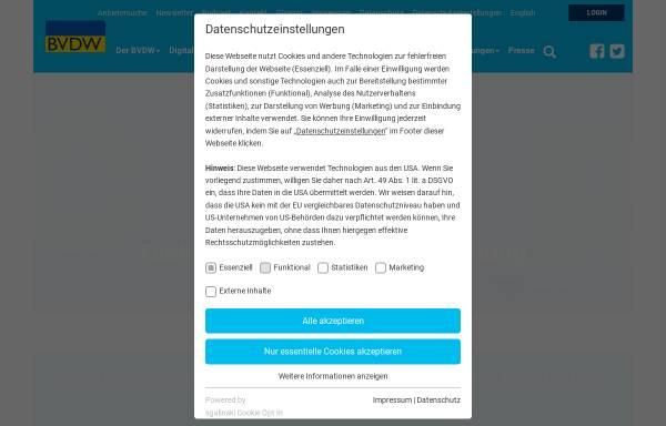 Vorschau von www.bvdw.org, Bundesverband Digitale Wirtschaft